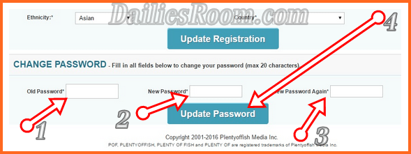 Change PlentyOfFish Password to Keep Your POF.com Account Secure