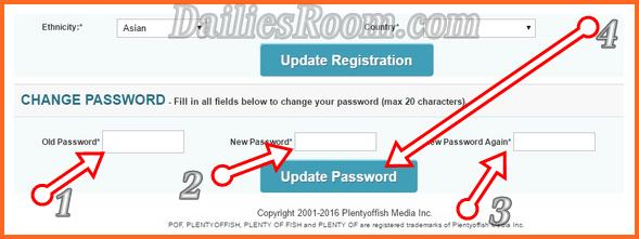 Change POF Password: How To Change Plenty Of Fish Password