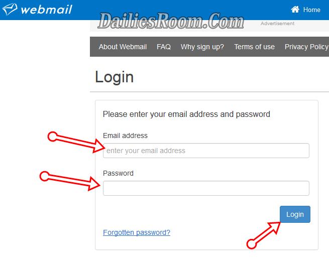 Free Webmail Sign Up Account - Webmail Login Email Address via www.webmail.co.za