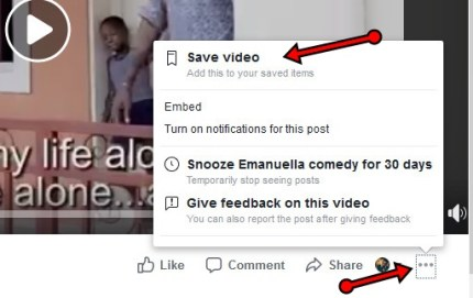 How To Save Facebook Videos On Facebook To Watch Later