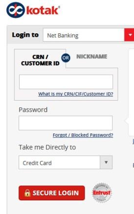 Kotak Credit Card Online Application | Kotak Credit Card Login