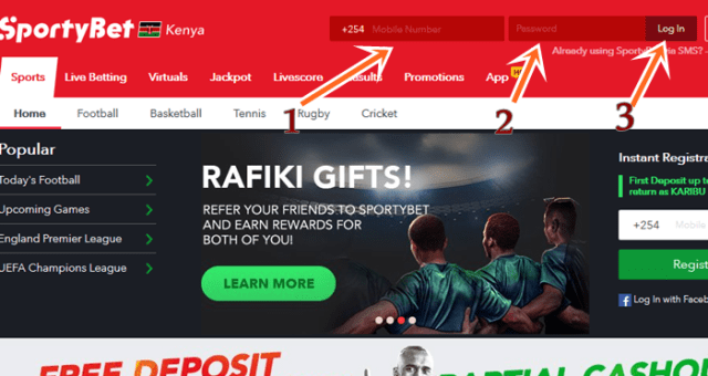 How To Login SportyBet.com Account