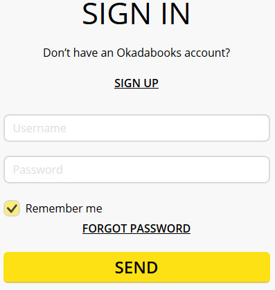 www.okadabooks.com Sign in Page - OkadaBooks Login Steps