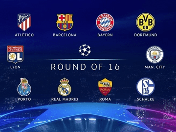 Full Champions League Last 16 Draw List - CL Round 16 Draw