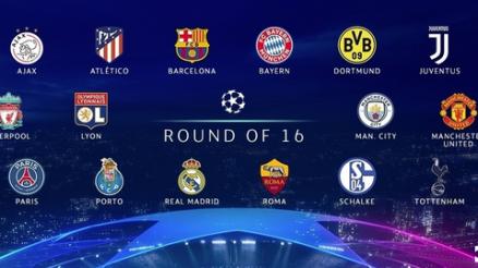 Full Champions League Last 16 Draw List - CL Round 16 Draw