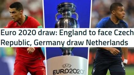 Euro 2020 Qualifying Groups Draw In Full (Euro 2020 draw)