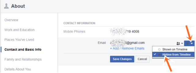 How to Hide Phone Number In Facebook Mobile App or Computer