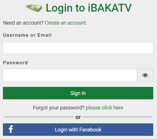 iBakatv User Login To Watch Unlimited Movies And TV episodes