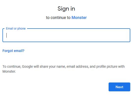 Steps To Monster Login Using Email Address, Facebook Or Google