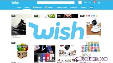 Wish Online Shopping Sign Up Page: Wish Social Media Registration