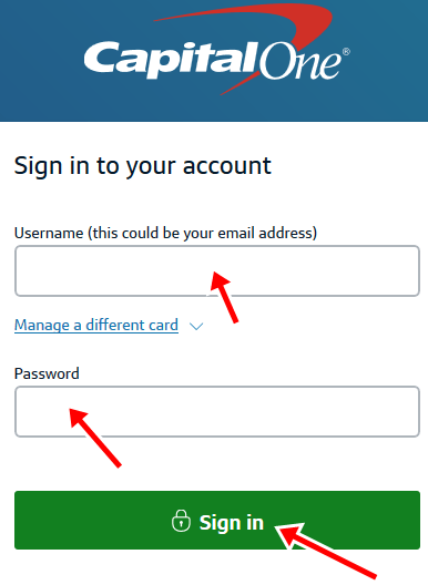 CapitalOne UK Card Sign In | CapitalOne Credit Card Login
