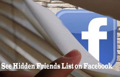 Steps To See Hidden Friends List on Facebook Timeline / Profile