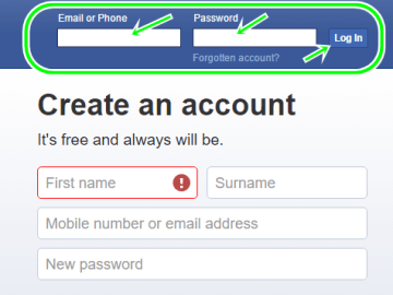 Facebook Email Sign Up From www.facebook.com   FB Profile Sign In