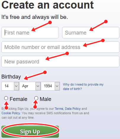 How To Set Up New Facebook Account   FB.com Registration