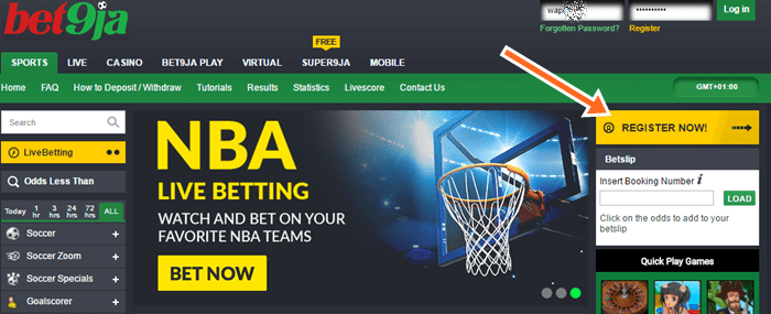 BET9JA - Bet9ja Mobile Registration Website, www.Bet9ja2.com Login