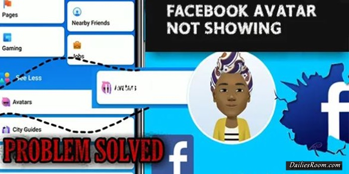 Facebook Avatar Not Showing 2021 Solution: Facebook Avatar Option