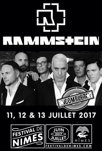 daily rock france live report rammstein festival de n mes 12 juillet 2017. Black Bedroom Furniture Sets. Home Design Ideas