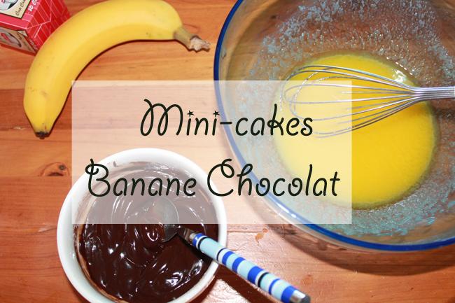 Mini cakes banane chocolat