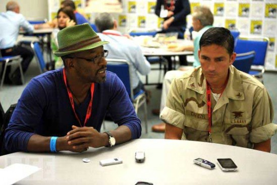 Lennie-James-and-Jim-Caviezel-at-Comic-Con