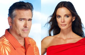 Bruce Campbell and Gabrielle Anwar in Burn Notice