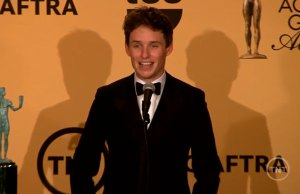 Eddie Redmayne SAG Sawards Press Room