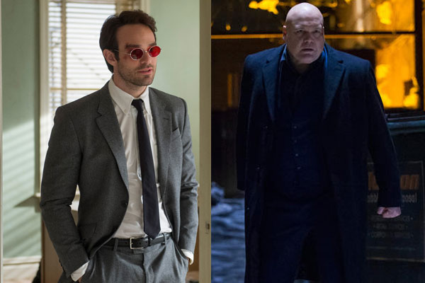 Charlie Cox and Vincent D'Onofrio in Daredevil