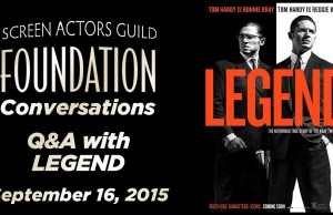 Watch: Conversations with Tom Hardy, Emily Browning and Brian Helgeland of 'Legend'