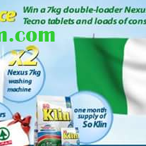 So Klin Nigeria #Klindependence Contest - Win A Nexus Washing Machine