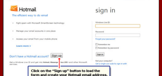 Steps To Create Hotmail Account