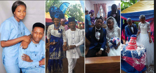 18-year-old Nigerian boy weds his 17-year-old fiance in Abia