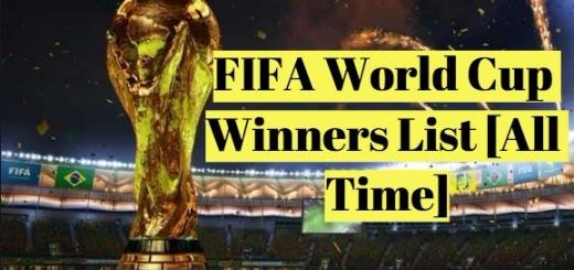 List FIFA World Cup Winners Since 1930 Till Date