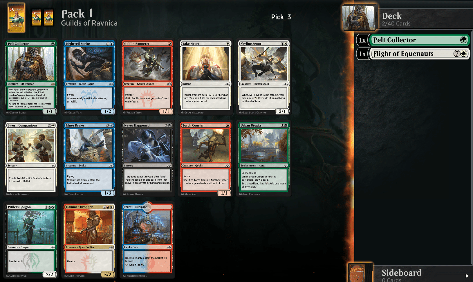 GRN Community Draft 2 – Pack 1, Pick 3 – Daily Arena