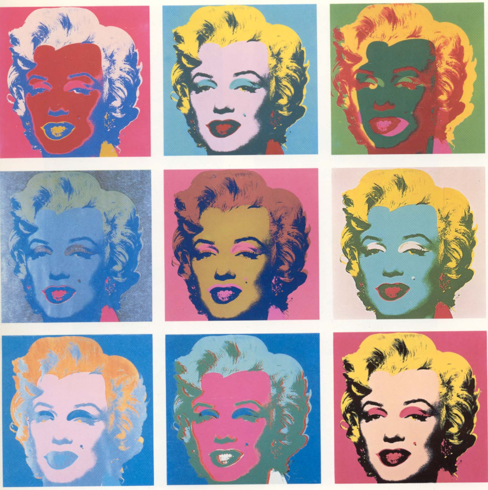 Marilyn Monroe poster by Andy Warhol