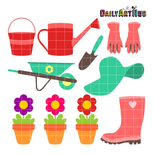 small resolution of commercial use clip art set for svg cuts scrapbooking embroidery digitizing papercrafts and more garden set