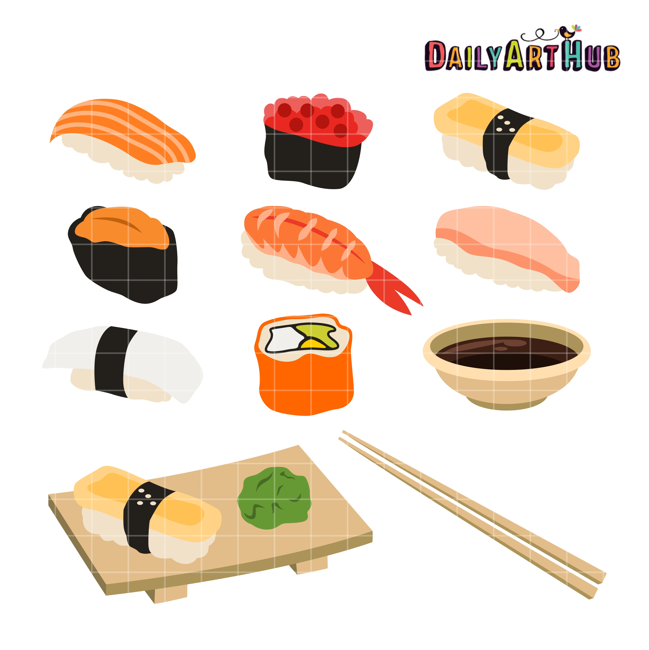 Sushi Clip Art Set Daily Art Hub Free Clip Art Everyday