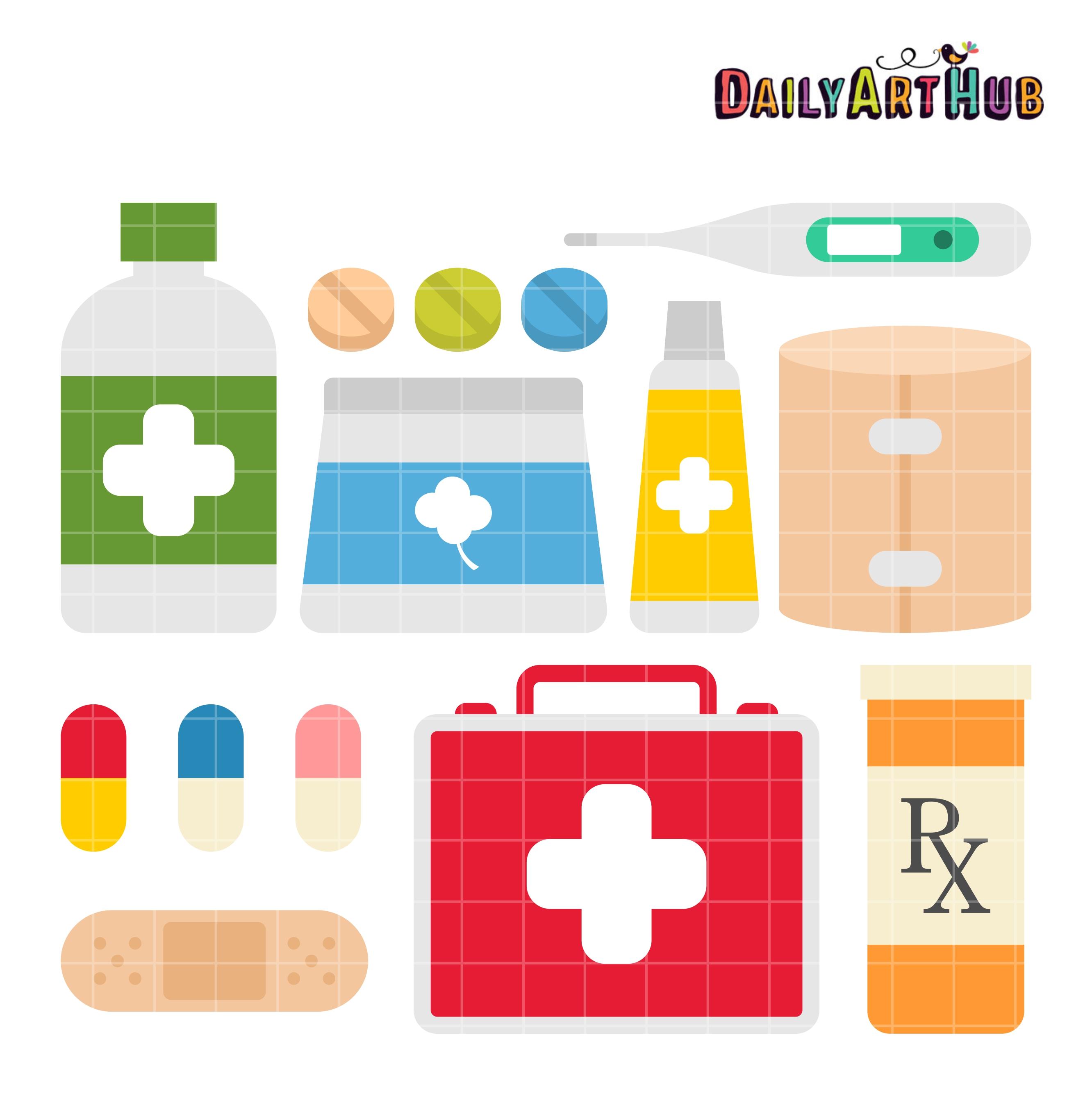 First Aid Kit Clip Art Set Daily Art Hub Free Clip Art