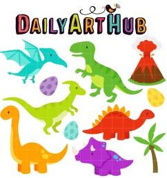 cute dinosaurs clip art set [ 2500 x 2500 Pixel ]