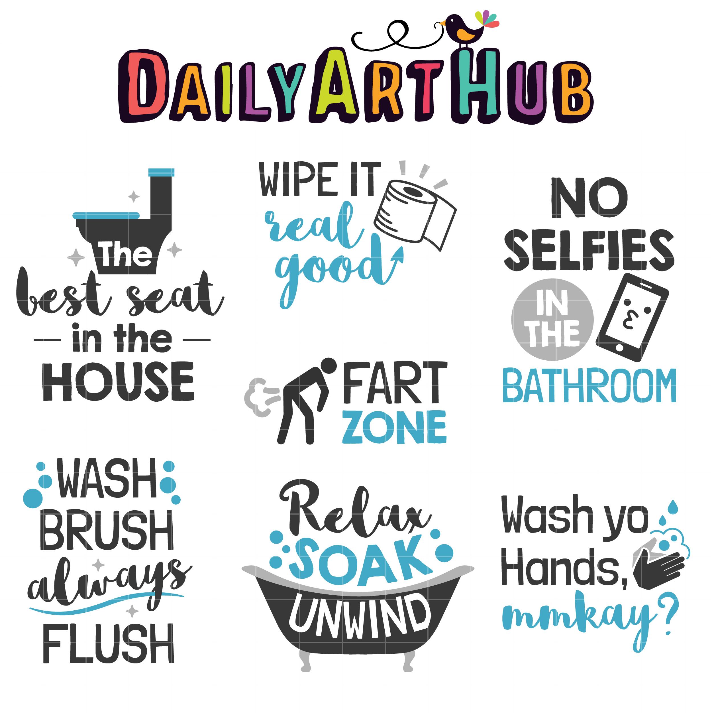 Bathroom Quotes Clip Art Set Daily Art Hub Free Clip Art Everyday