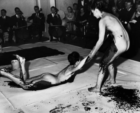 """Anthropométries"" as a performance piece, 1960 Blue Yves Klein"