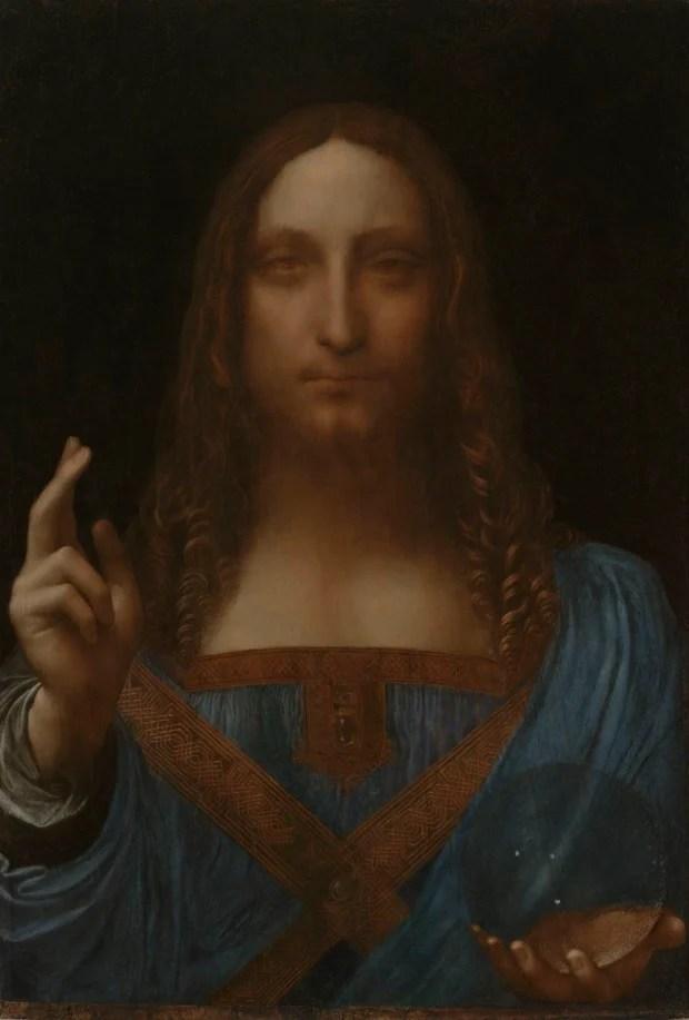 Leonardo da Vinci (attributed), Salvator Mundi, circa 1500