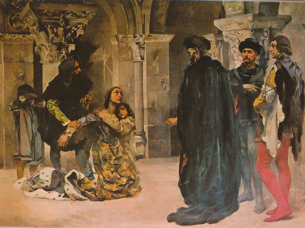 Columbano Bordalo Pinheiro, Inês de Castro's Plea, oil on canvas, 1901-1904. Military Museum, Lisbon, Portugal King Pedro And Inês de Castro