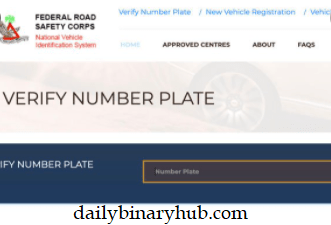FRSC Plate Number Verification