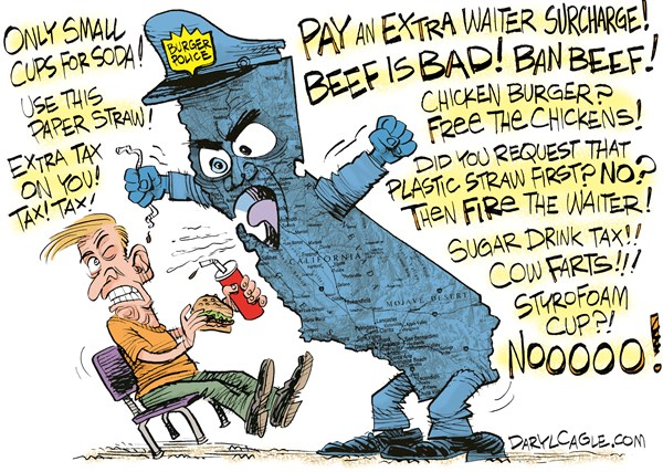 The Burger Police Are Coming Political Cartoons Daily