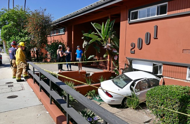 Driver With Medical Emergency Crashes Into Hermosa Beach Apartment