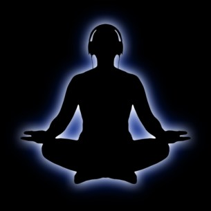 Meditation with headphones