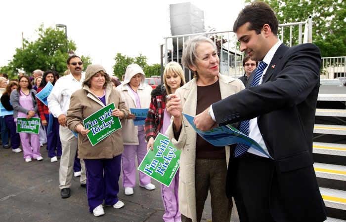 Ricky Gill, right, who served on the California State Board of Education, plans to run for a congressional seat in the 11th District.