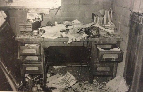 In November 1975, a fire ravaged Eshleman Hall, costing the student groups and ASUC about $40,000's worth of damage.