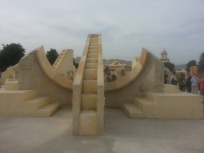 Sundial at the Observatory in Jaipur.