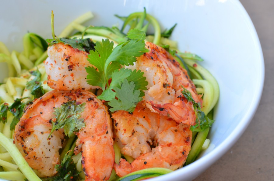Easy Lunch Recipe Zoodles And Pan Seared Shrimp The Daily Californian
