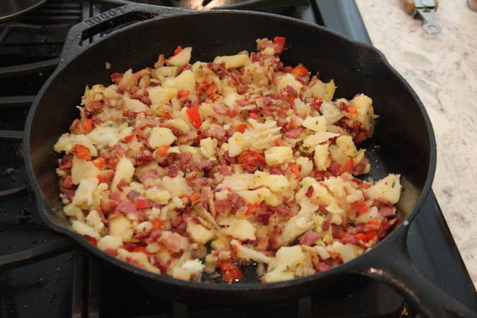 everything in the pan